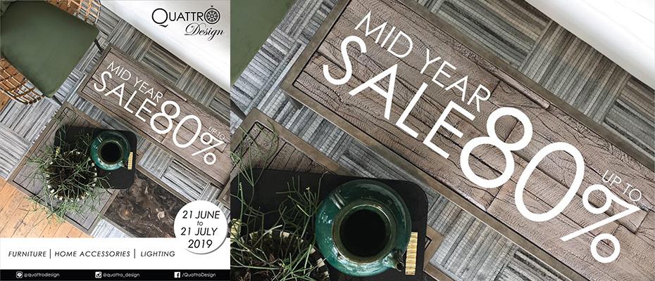 """คนรักการแต่งบ้านอย่างมีสไตล์ รสนิยมเป็นเลิศ ต้องไม่พลาด """"Quattro Design Mid-Year Sale 2019"""" ลดสูงสุด 80%!"""