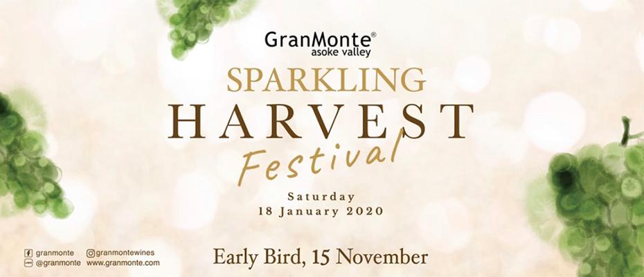"""สัมผัสประสบการณ์สุดพิเศษกับ """"GranMonte Sparkling Harvest Festival 2020""""เปิดจำหน่ายบัตร Early Bird แล้ว"""