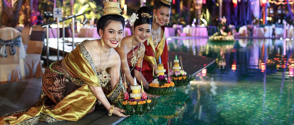 เตรียมลอยกระทงอินสายน้ำแห่งความรุ่งเรืองริมเจ้าพระยา ที่โรงแรมแชงกรี-ลา กรุงเทพฯ
